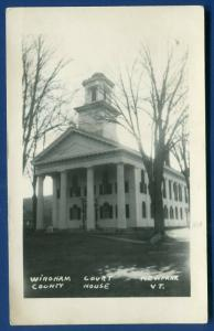 Newfane Vermont vt Windham County Courthouse real photo postcard RPPC
