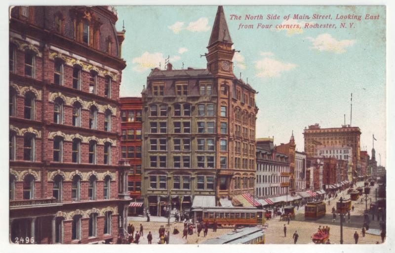 P1104 old unused main street people trollies etc rochester new york