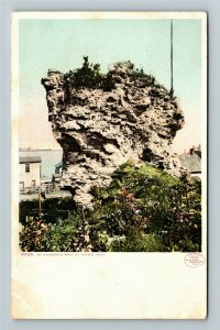 St Ignace MI-Michigan, St Anthony's Rock, Vintage c1907 Postcard
