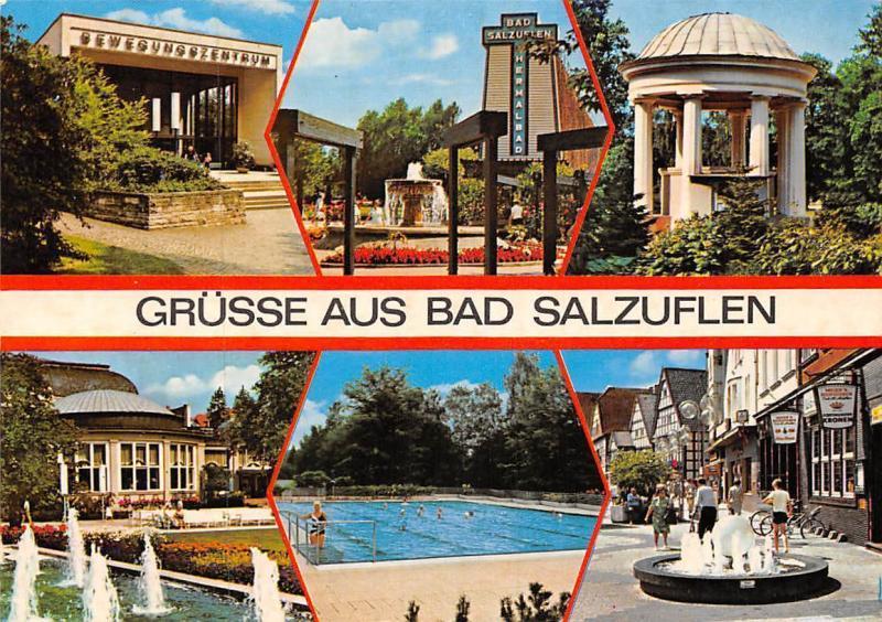 Gruesse aus Bad Salzuflen, Schwimmbad Brunnen Fountains Promenade Swimming Pool