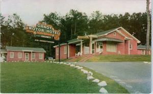 TALLAHASSEE, FL Florida    GANDY MOTOR HOTEL     c1950s   Roadside   Postcard