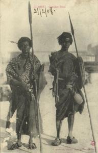 djibouti, Armed Native Somali Warriors, Desert Nomads (1908) Postcard