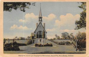 Canada Memorial church and Evangeline Monument, Grand Pre, Nova Scotia