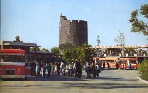 Universal Studios CA Calif Glamor Tram Trams Hollywood Tourists Postcard E1