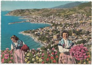 Riviera dei Fiori, S. REMO, General view from the east, used Postcard