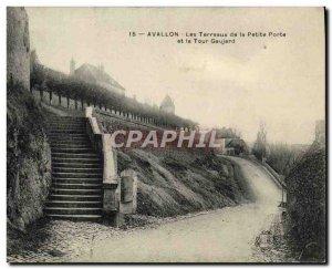 Old Postcard Avallon Les Terreaux De La Petite Porte and La Tour Gaujard
