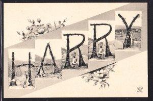"""Harry"" large letter card – Art Nouveau - Silberer"