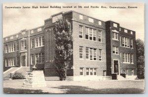 Osawatomie Kansas~Junior High School~Corner Bell~5th & Pacific Avenue~1940s