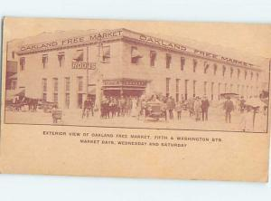 Pre-1907 FREE MARKET STORE AT 5TH & WASHINGTON STREETS Oakland CA hp9357
