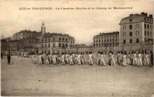 CPA AIX-en-PROVENCE La Caserne Miollis et le Champ de Manoeuvres (339932)
