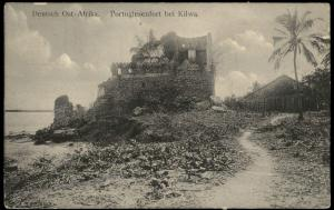 Germany East Africa Portuguese Fort KILWA Deutsche Ostafrika DOA Cover 85539