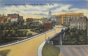 Wheeling West Virginia 1940s Postcard Chapline Street Extension looking South