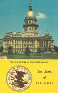 Illinois Capitol Building, Springfield Illinois unused Po...