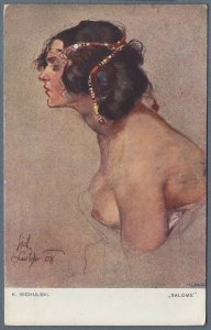 1918 Postcard Nude Woman ~ Salome ~ by K. Sichulski
