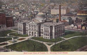 Bird's Eye View, Showing Court House, TOLEDO, Ohio, 1900-1910s