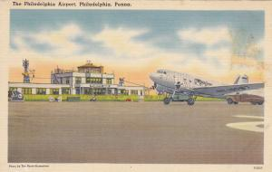 Mainliner Airplane (Prop) , Airport , PHILADELPHIA , Pennsylvania , 30-40s