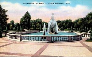 Michigan Detroit Memorial Fountain At Detroit Zoological Park