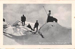 Norway Old Vintage Antique Post Card Bergensbanen, Winter Scene Unused