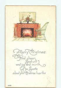 Divided-Back CHRISTMAS SCENE Great Postcard W9861