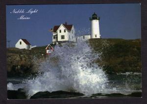 ME Nubble Light Lighthouse CAPE NEDDICK MAINE Postcard