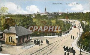 Old Postcard Luxembourg entrance of the city