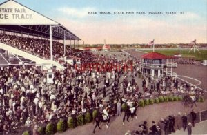 HORSE RACE TRACK, STATE FAIR PARK, DALLAS, TX.