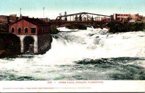 Washington Spokane View Of The Upper Falls