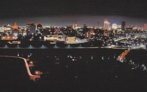 Skyline at Night , EDMONTON , Alberta , Canada , 40-60s