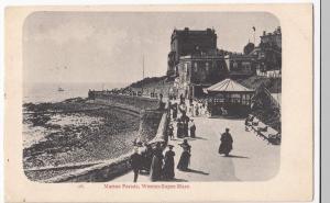Somerset; Weston Super Mare, Marine Parade PPC, 1904 To Miss Davis, Twickenham