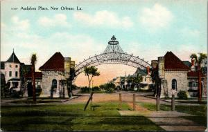 New Orleans Louisiana~Audubon Place Arch~Gated Community~Mansion Homes~1908