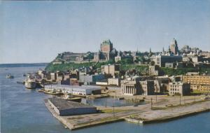 New angle of Quebec City from the harbour, QUEBEC, Canada, 40-60s