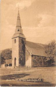 Lake George New York Union Church Street View Antique Postcard K41888