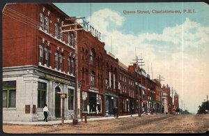 Prince Edward Island CHARLOTTETOWN Early View Queen Street Valentine & Sons - DB
