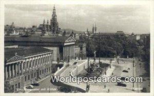 Parlament mit Rathaus Wien, Vienna Austria Unused