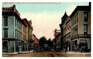 Pennsylvania  Chambersburg ,Main street looking North from Diamond , Troll