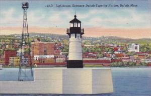 Lighthouse Entrance Duluth Superior Harbor Duluth Minnesota