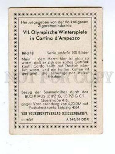 167006 Olympic Winter Games CORTINA d'Ampezzo CIGARETTE card