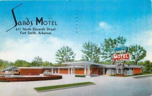 Fort Smith AR~Sands Motel on North 11th Street~1960 Postcard