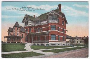 Shiloh House Zion Illinois 1920s postcard