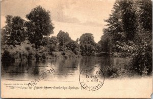 View of French River in Cambridge Springs PA Postcard 1910 Rotograph