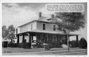 Lumberton North Carolina~Biggs Home @ 1101 N Pine St~1940s Postcard