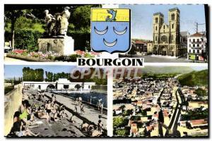 Postcard Modern Bourgoin pool