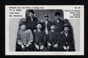 KS Dodge City Kansas Wyatt Earp, Bat Masterson,Neil Brown, Luke Short Postcard