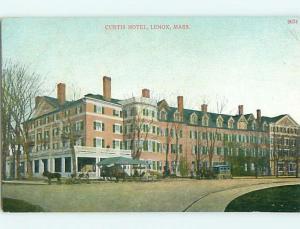 Unused Divided-Back HORSE & CURTIS HOTEL Lenox Massachusetts MA u9892