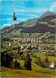Modern Postcard Luftkurort Kitzbuhel Hahnenkammbahn Gegen Tirol