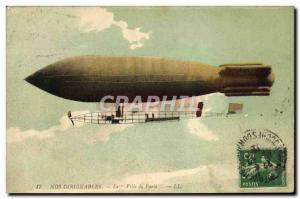 Old Postcard Jet Aviation Zeppelin Airship The City of Paris