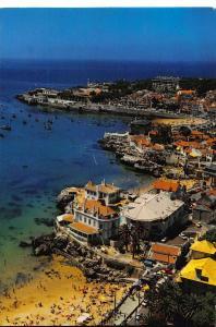Portugal The ALbatroz Against the Coast line Cascais Bay Postcard