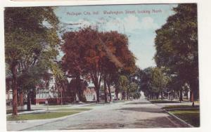 P111 JLs antique 1910 postcard washington st michigan city
