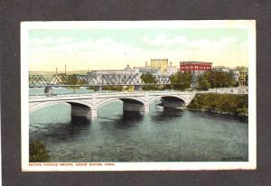 IA Second Ave Bridge Cedar Rapids Iowa Postcard