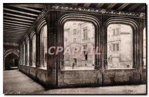 Old Postcard Bourges Palais Jacques Coeur the Cloitre